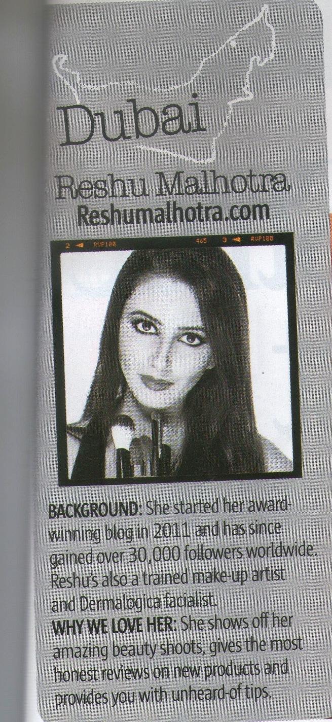 Reshu Malhotra/Dubai Beauty Blogger/Makeup Artist/ Look Magazine