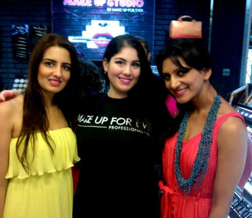 Make up for ever launch with Nadia & Prianca Sharma