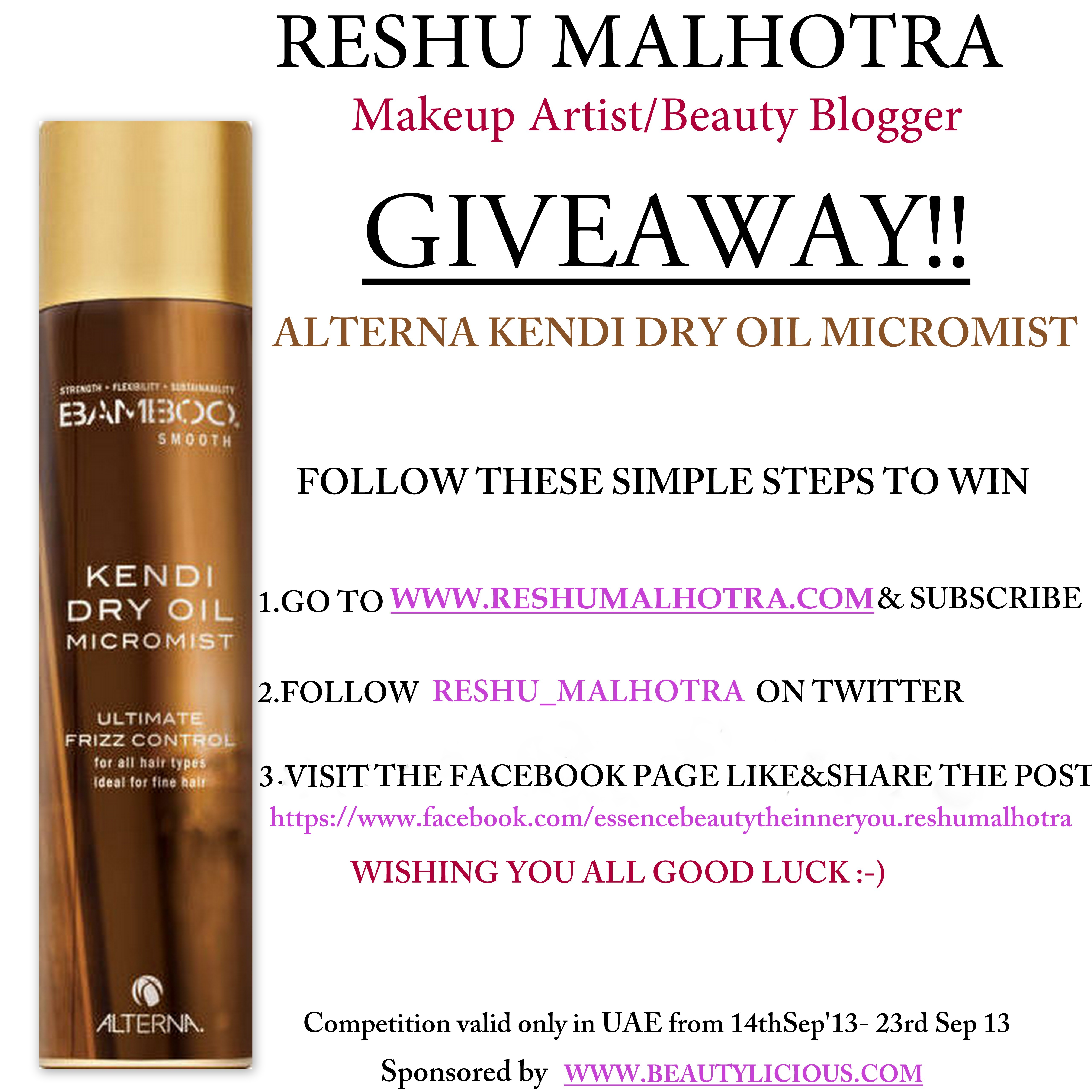 Giveaway/Blog/Reshu Malhotra/Dubai/uae