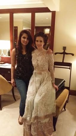 With Kalki Koechlin after Her Hair & Makeup at the hotel