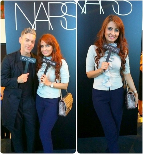 With James Boehmar  Director of Global Artistry NARS cosmetics