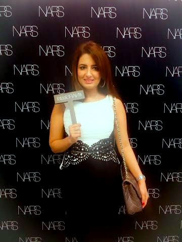 At NARS Audacious Lipstick Masterclass with Anna Priadca